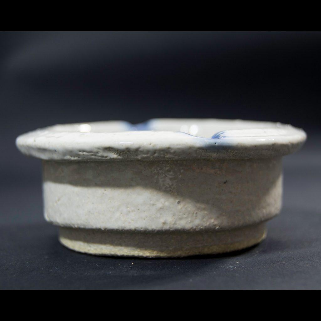 Perfil cenicero hecho a mano esmalte transparente