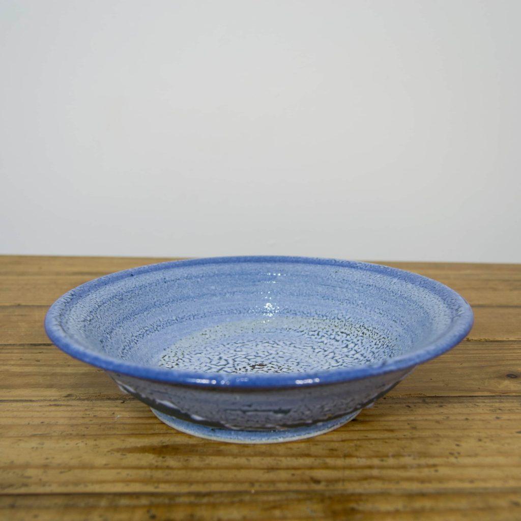 Frutero azul de cerámica