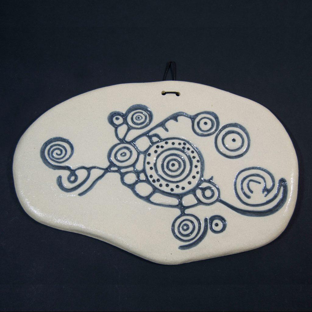 Petroglifo decorativo O Esperon, ubicado en Gargamala, Pontevedra. Hecho a mano en Galicia.