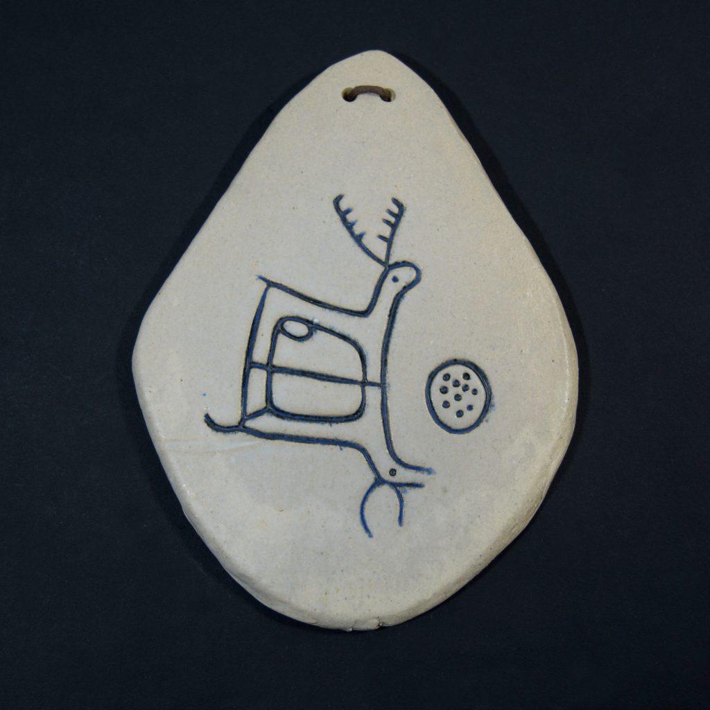 Petroglifo decorativo Laxe das Lebres, ubicado en Poio, Pontevedra. Hecho a mano en Galicia.