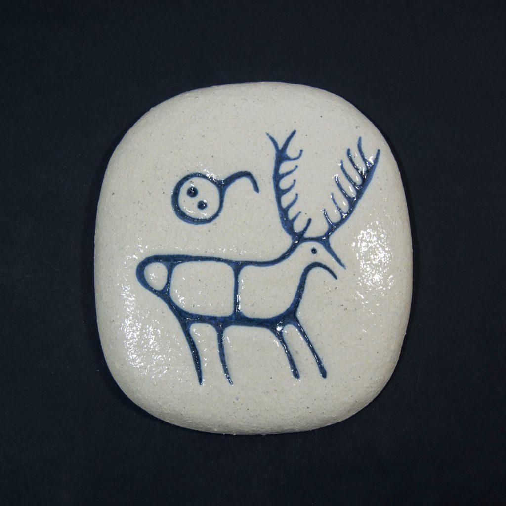Petroglifo decorativo O Siribela ubicado en Pontecaldelas, Pontevedra. Hecho a mano en Galicia.