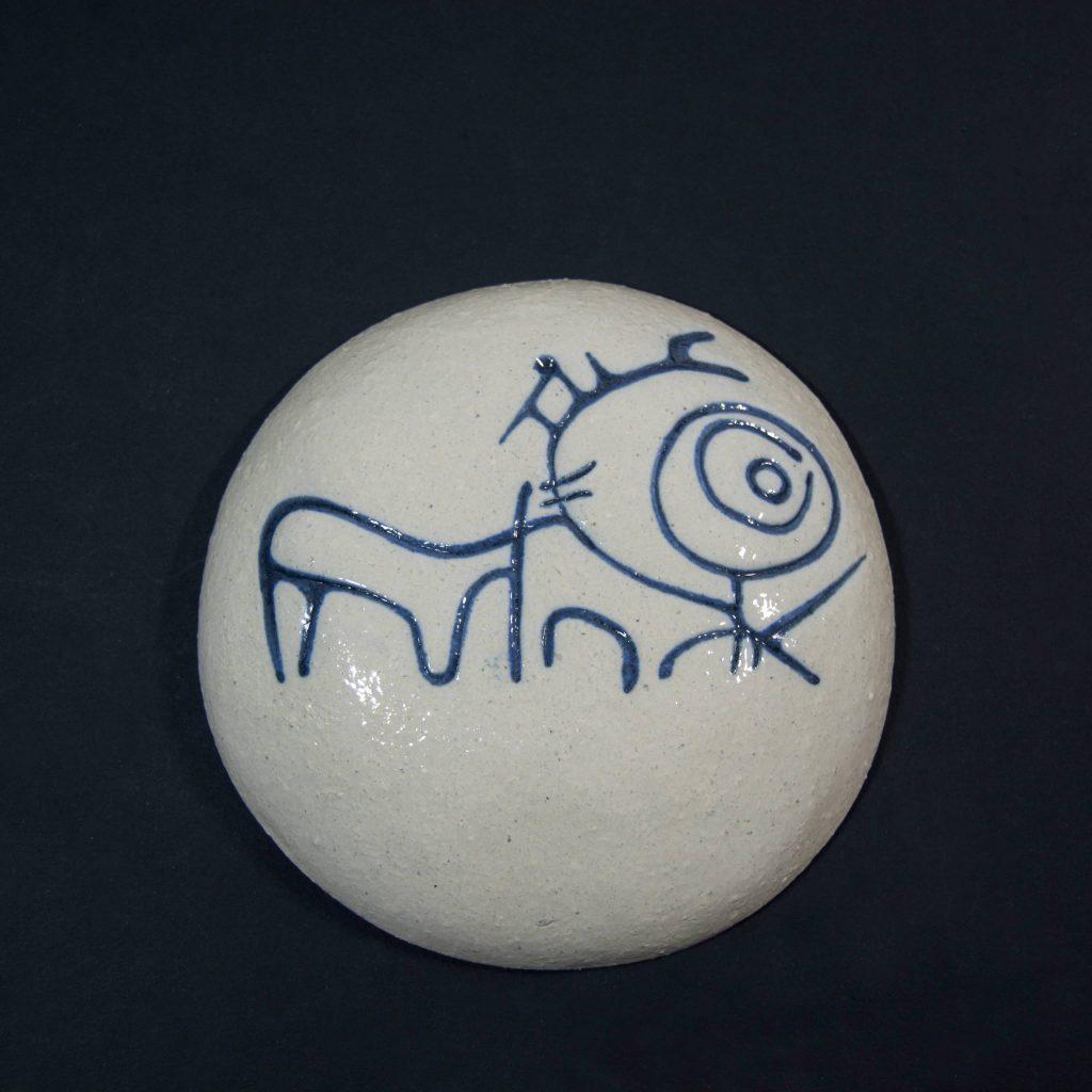 Petroglifo decorativo Cavada de Pedro ubicado en Campo Lameiro, Pontevedra. Hecho a mano en Galicia.