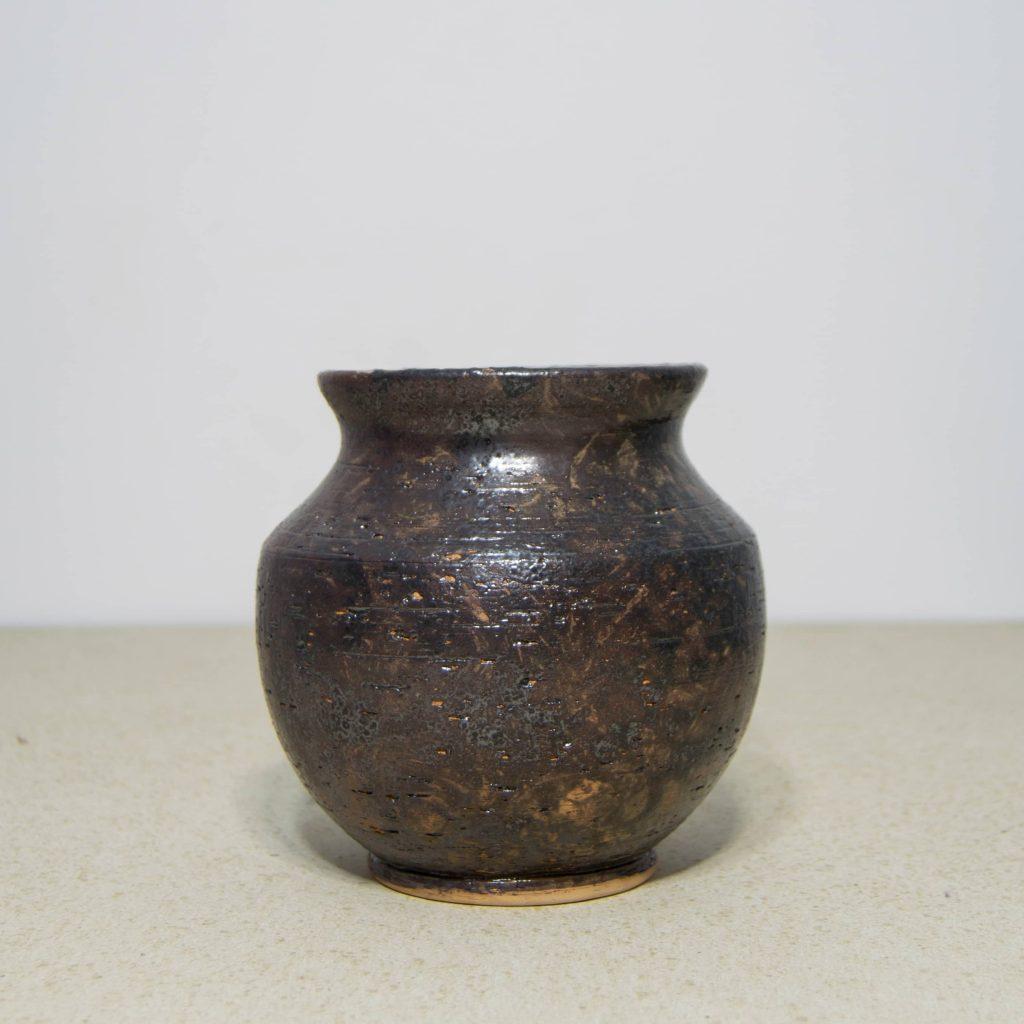 Jarrón gris grande de cerámica, pieza única. Hecho a mano, decoración del hogar y centros de mesa. Juego de dos unidades