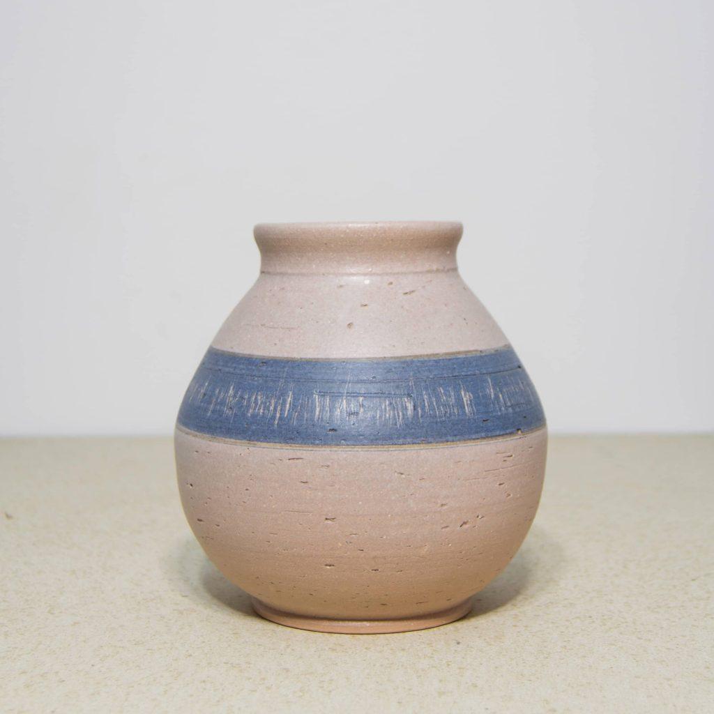 Jarrón de cerámica, pieza única. Hecho a mano, decoración del hogar y centros de mesa. Juego de cinco unidades