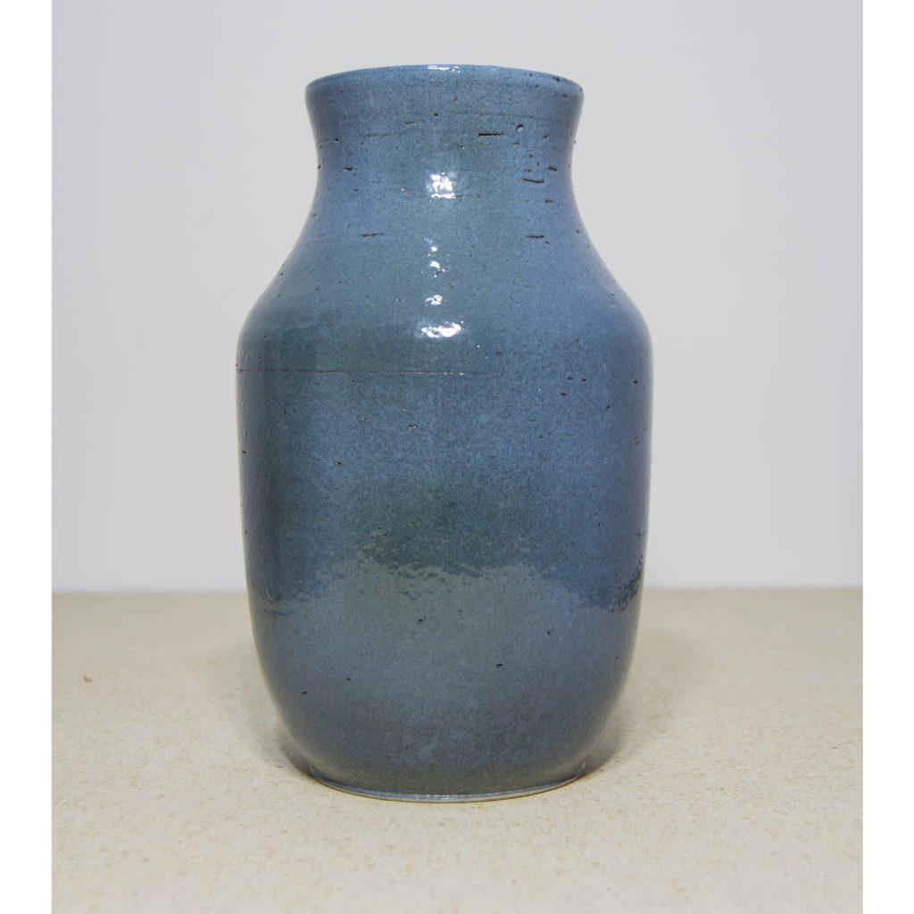 Jarrón azul de cerámica, pieza única. Hecho a mano, decoración para sala de estar