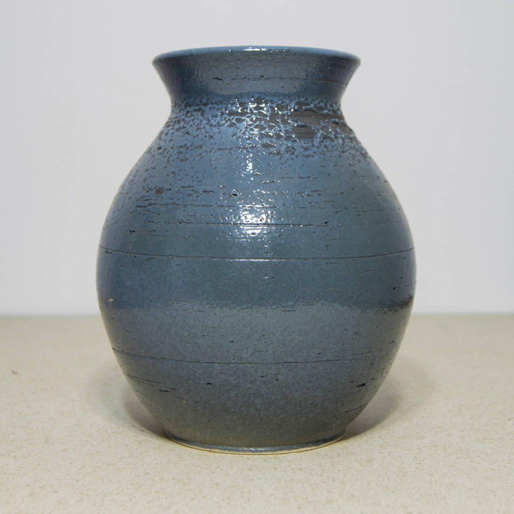 Jarrón de cerámica azul, pieza única. Hecho a mano, decoración del hogar