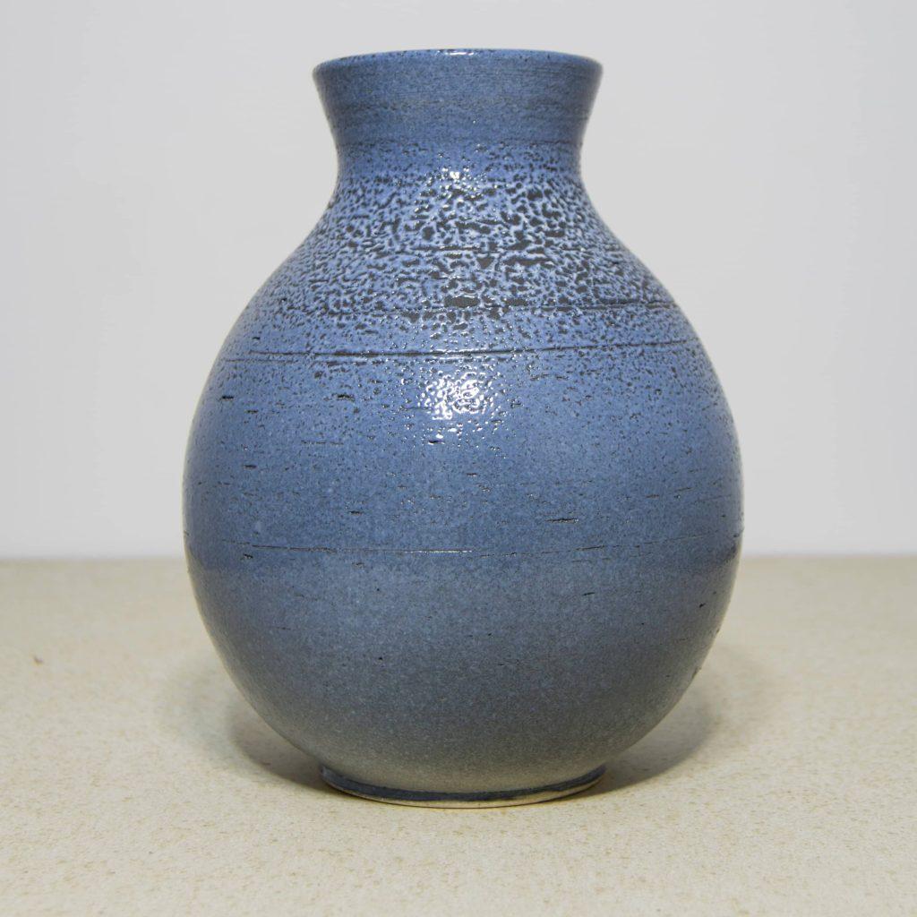 Jarrón de cerámica azul, pieza única. Hecho a mano, decoración para sala centros de mesa